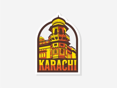 Mohatta Palace – Karachi dribbleweeklyroundup pakistan minimalist modern sleek hometown karachi design clever idea aw typography vector illustration classic branding logo