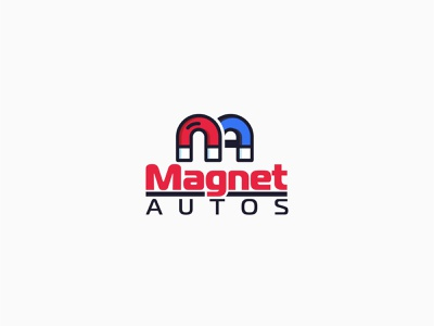 Magnet Autos mainitials mainitials automotive colorfull idea design logo vector branding classic clever