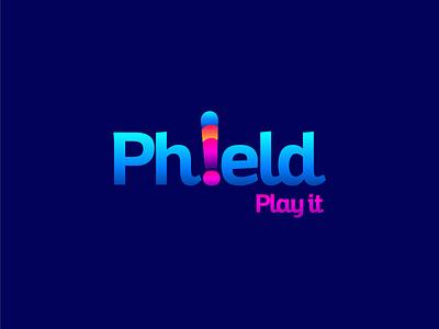 Phield idea vector mainitials colorfull design clever classic branding logo