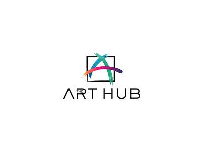 The Art Hub initial logo initiala initiala art vector mainitials colorfull idea design clever classic branding logo