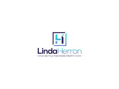 Linda Herron lhlogo lhlogo lhf vector mainitials colorfull idea design clever branding classic logo