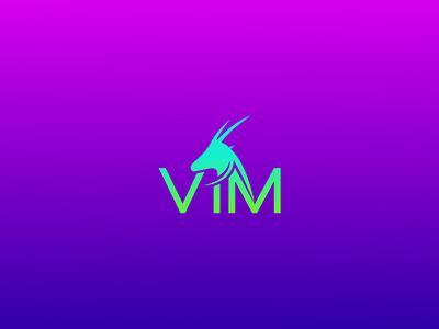 VIM clean clothes apparel animal ibex deer gradient art vector colorfull idea design clever classic branding logo