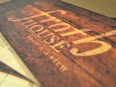 The Froth House :: Madison, WI logo coffee house brand rustic froth madison wisconsin menu identity