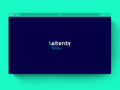 Alterity homepage business consulting software knowledge people money time tiles pleo corporate identity cyan navy blue menu animation web development webdesign ux ui homepage website