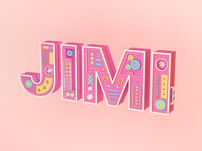 Jimi Logo C4D Type type c4d