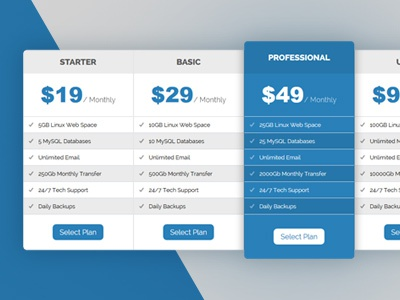 #1207 html css table pricing free css3 web pricing table