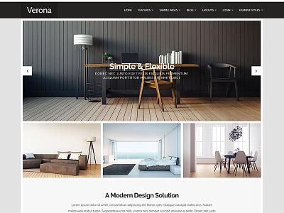 J51 Verona - Joomla Template style menu design webdesign web ui template joomla cms