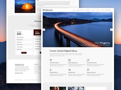 J51 Valencia - Joomla Template cms ui theme template style webdesign joomla design web