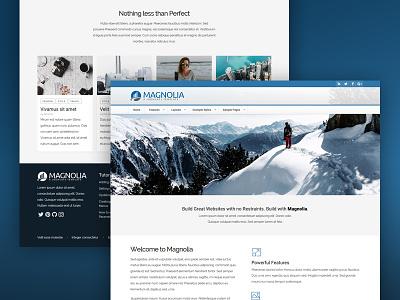 J51 Magnolia - Joomla Tempalte webdesign web ui template style slideshow menu joomla gallery earth design cms