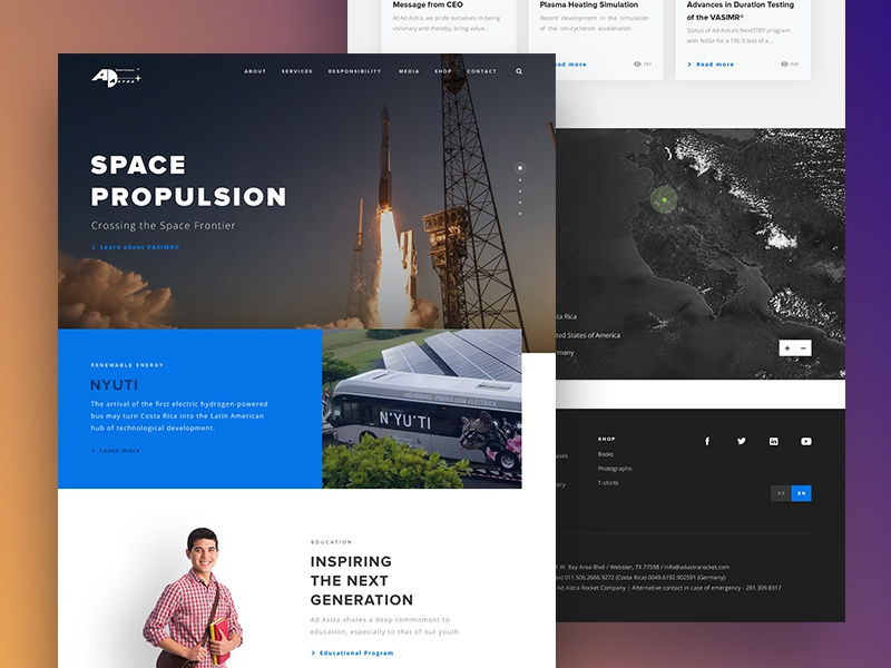 Ad Astra Landing Page by Marco Campos on Dribbble
