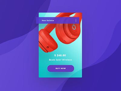 Product Card ux ui beats buynow cardinspiration ecommerce webdesign web uidesign cards productcard