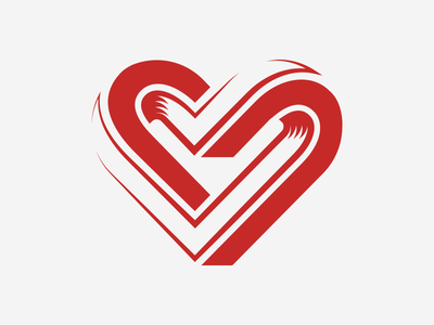 Impossible Heart optical depth red icon infinity illusion crest vector illustrator impossible heart