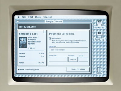 Daily UI challenge #002 — Credit Card Checkout original retro old mac 80s checkout card credit ui daily