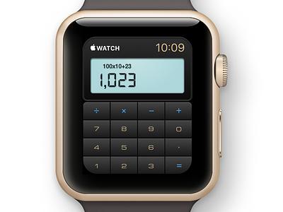 Daily UI challenge #004 — Calculator daily ui calculator apple watch app digital