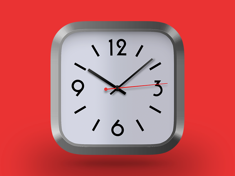 Daily UI challenge #005 — App Icon retro shine hand hour minute second time clock icon app