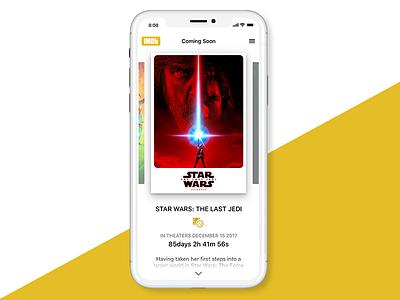 DailyUI #14 Countdown poster film mock wars star imdb movies timer iphone iphone x countdown