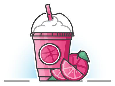 Don't Drink the Kool-frap drink fruit slice fresh juice pink frappuccino frappe sticker stickermule playoff dribbble