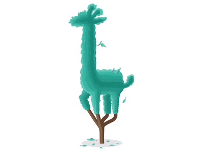 So this is 🦒 Topiary pruning apple pencil hedges shrub giraffe illustration topiary