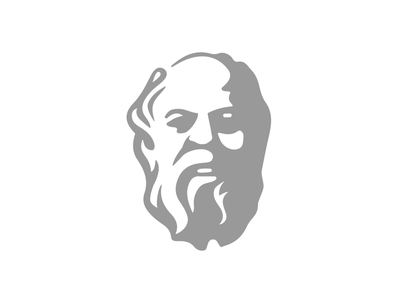 Socrates greek philosopher statue portrait face logo vector illustrator