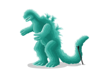 Topiary Godzilla