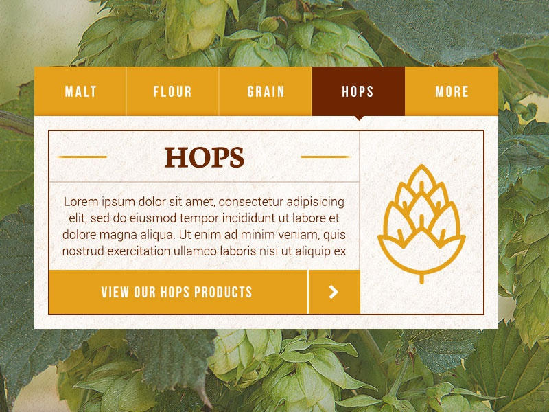 Farm Hops products debut tabs website hello first shot