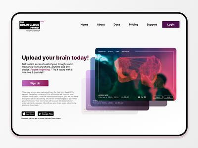 The Brain Cloud Project - iPad Pro concept ui figma ui design uidesign design