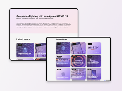 Companies Fighting with You Against COVID-19 shipped website webflow uidesign ui design design ui