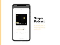 Simple Podcast app (Figma)