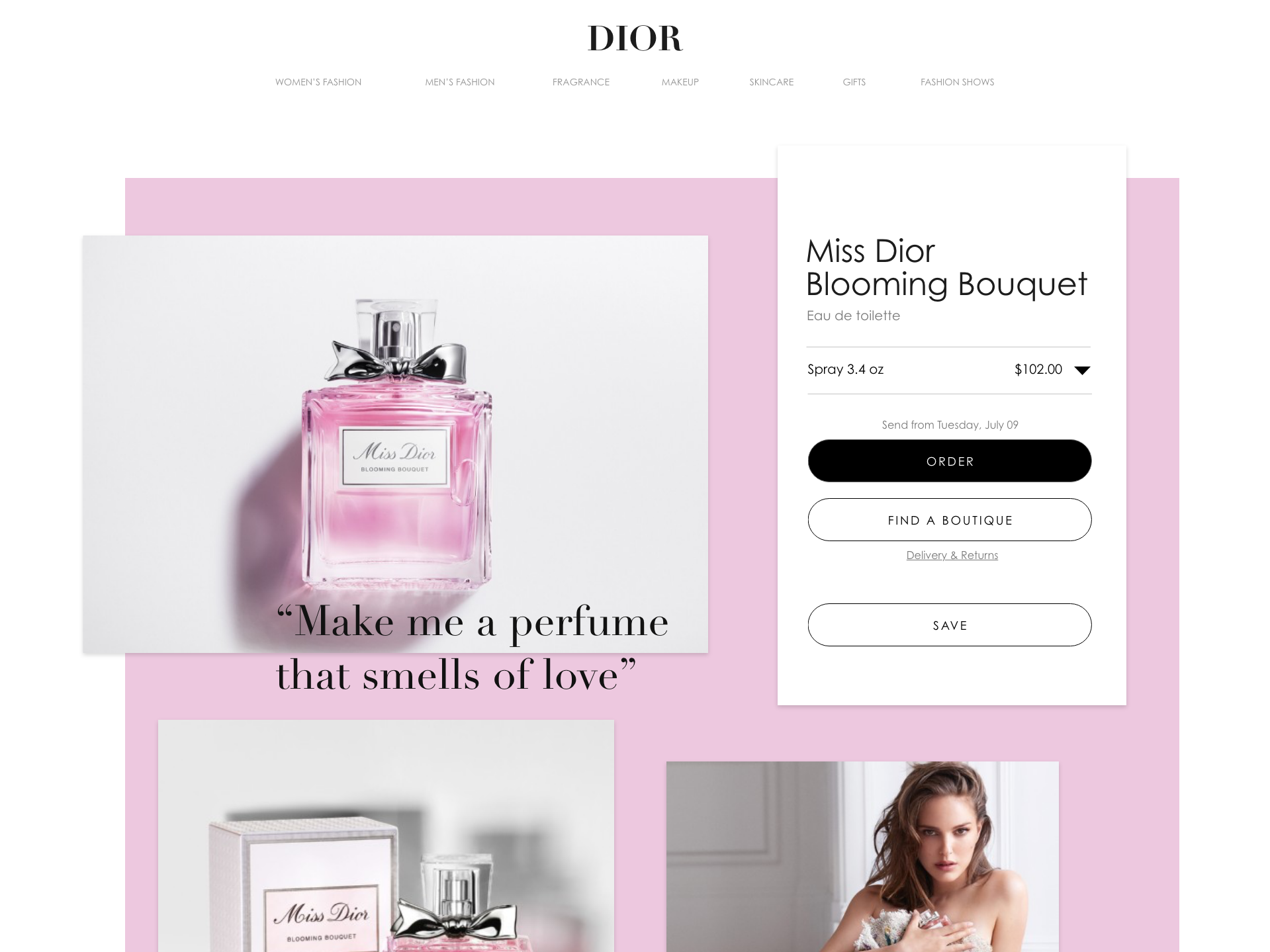 Miss Dior Blooming Bouquet Concept