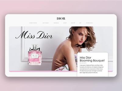 Miss Dior Desktop II app design adobe xd adobexd ui design uidesign concept app ux ui design