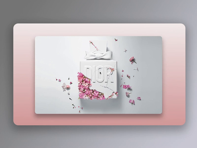 Dior - Shadow Experiments interactiondesign prototype invision studio invisionstudio interactions animation ui design uidesign concept ux ui design