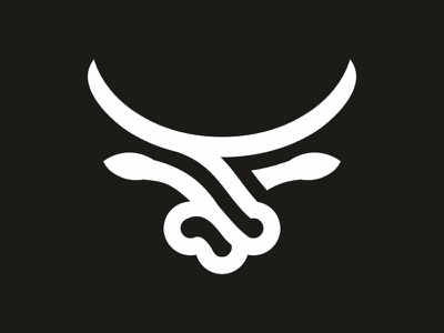 Bull logo head You Brand animal logo horns linear bull logo simple bull logo bull head bull logo bull