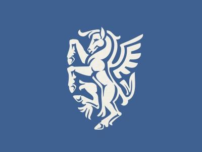 Pegasus logo horse wings crest heraldry logo shield pegasus