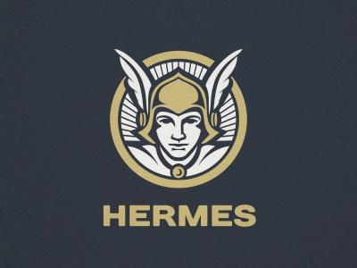 Hermes Logo helmet wings mithology greek god mercury hermes
