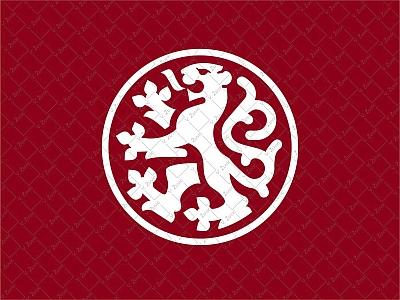 Heraldic Lion in the circle logo circle lawyer business logo for sale flat animal lion heraldry