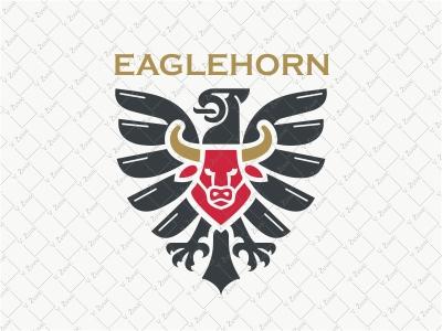 Eagle Bull Logo strong proud shield horn logo for sale wings crest heraldry bull eagle