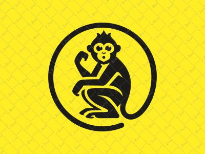 Monkey logo animal logo web internet mail message @ monkey logo logo for sale premade logo