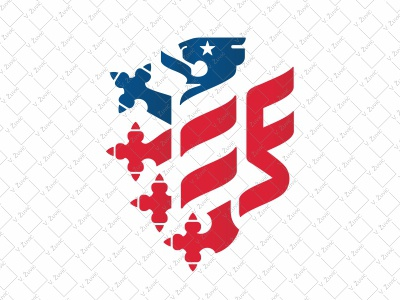 USA Heraldic Lion Logo coat of arms crest logo for sale lion star flag usa shield heraldry