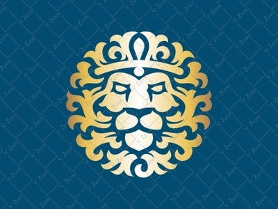 Luxury Lion Logo real estate logo animal logo manly logo vintage lion gold lion logo hotel logo lion head ornamental lion logo for sale crown logo king logo luxury logo lion logo lion