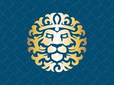 Luxury Lion Logo real estate logo animal logo manly logo vintage lion gold lion logo hotel logo lion head ornamental lion logo for sale crown logo king logo luxury logo lion logo lion
