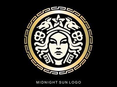 Greek goddess logo greek ornament logo crown logo woman face logo human face logo keys logo hecate logo greek mythology greek goddess greek god