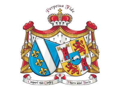 Impalement marital coats of arms heraldic lily heraldic lions shield marital coats of arms impalement coat od arms heraldry