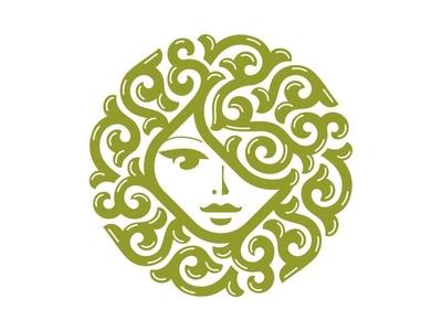 Woman head logo ornamental logo feminine logo cute logo woman head logo hairdresser logo human head logo