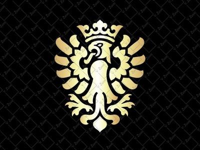 Golden Eagle Crest Logo royal logo eagle shield logo eagle heraldic logo eagle crest crowned eagle logo golden eagle logo