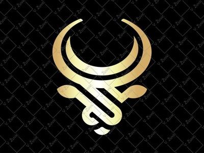 Stylized Bull Logo bull mark bull brand bull head logo bull symbol abstract bull bull logo