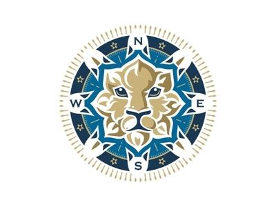 Wind Rose Lion Logo