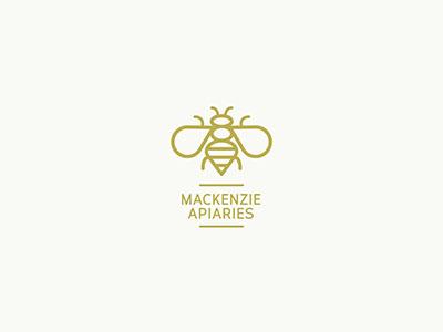 Mackenzie Apiaries Logo logo redesign honey bee logo xprocrastinationcontest