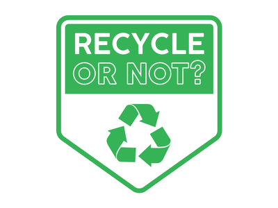 Recycle or Not logo recycle logo