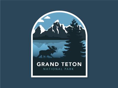 Grand Teton National Park Badge