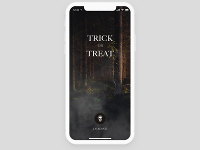 Trick or treat game animation halloween game invisionstudio interaction transition invision design tools animation design
